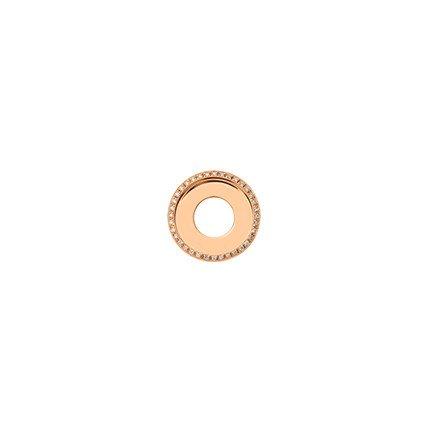 17mm Rose Gold Diamond Disc