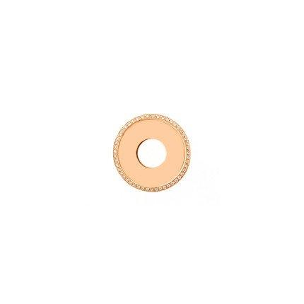 20mm Rose Gold Diamond Disc