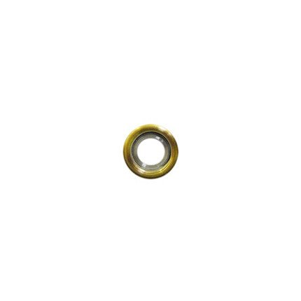 14mm Rounded Gold Disc