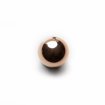 PLANETS-rose gold ball polished-1mm neck