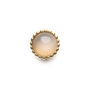SPHERIC CIRCLES-moonstone-Yellow Gold 10mm
