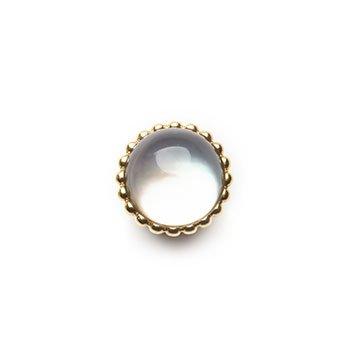 SPHERIC CIRCLES-prasiolite-Yellow Gold 10mm