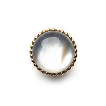 SPHERIC CIRCLES-prasiolite-Rose Gold 14mm