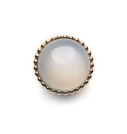 SPHERIC CIRCLES-white moonstone-Rose Gold 14mm