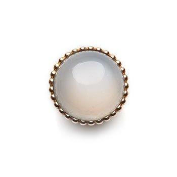 SPHERIC CIRCLES-white moonstone-Rose Gold 14mm