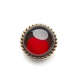 SPHERIC CIRCLES-garnet-Rose Gold 14mm
