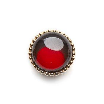 SPHERIC CIRCLES-garnet-Rose Gold 14mm