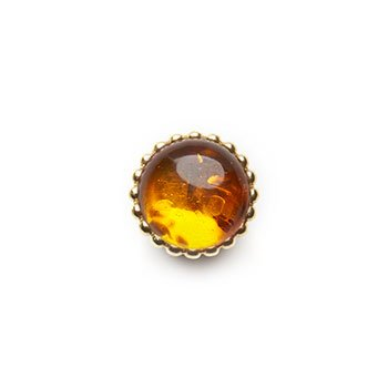 SPHERIC CIRCLES-amber-Yellow Gold 10mm
