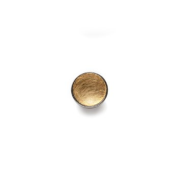 GOLD BUTTON-yellow gold concave matte-10mm