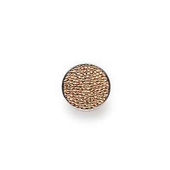 GOLD BUTTON-rose gold granulation-14mm