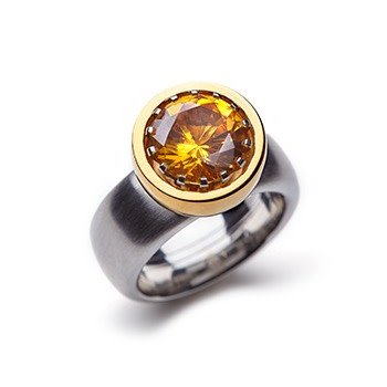 DOM-BOWL-yellow gold-15mm