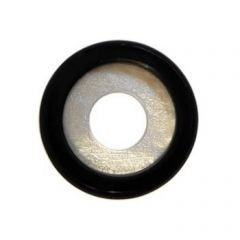 Rounded Discs Onyx on Pearl 20mm