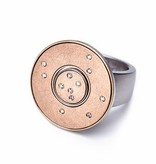 STELLA-rose gold with diamonds-10mm