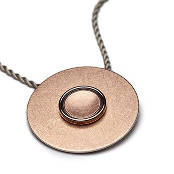 GOLD BUTTON-rose gold concave- matte-14mm