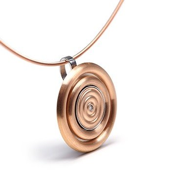 GOLD BUTTON-rose gold wave with diamond-14mm