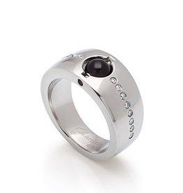 Steel Ring w/ Diamonds size 7