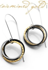 FAIRMINED 22k gold 'interconnected' . earring