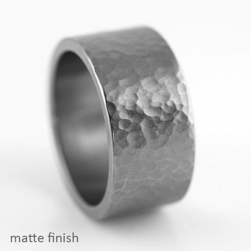 round hammer texture wide . ring