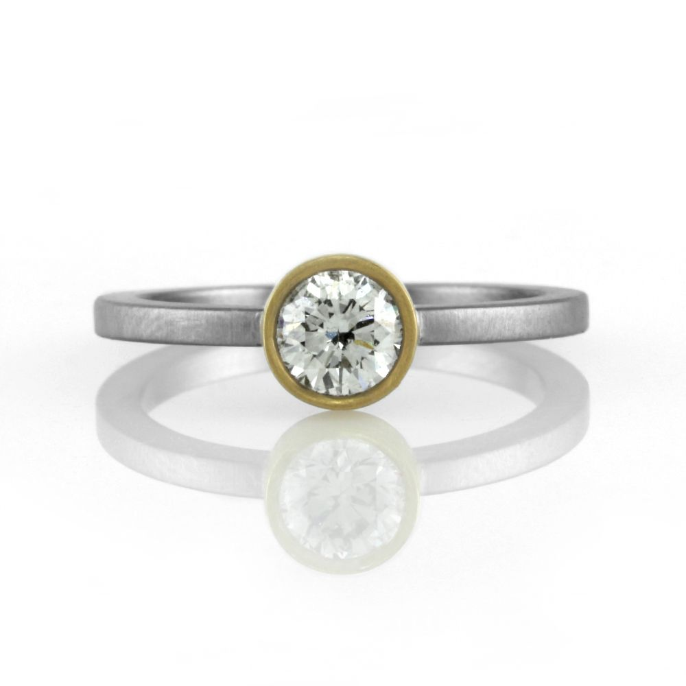 clean bezel engagement product rings set and diamond a contemporary platinum ring semi