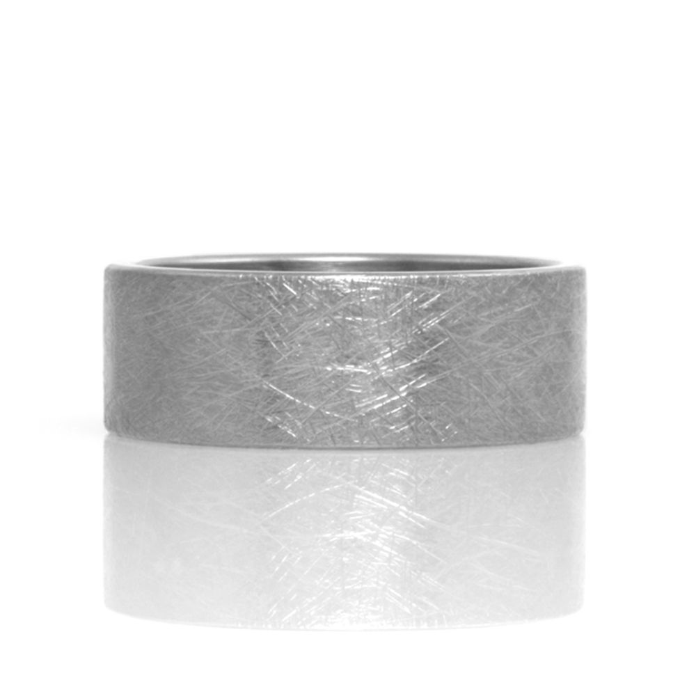 rustic finish wide band . ring