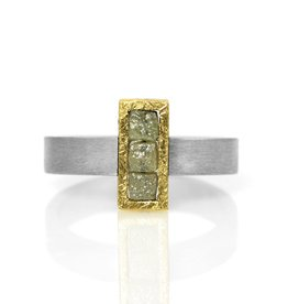 raw diamond alignment . ring