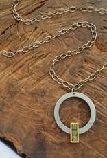 raw diamond alignment . necklace