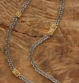raw diamond 3, 2, 1 . necklace