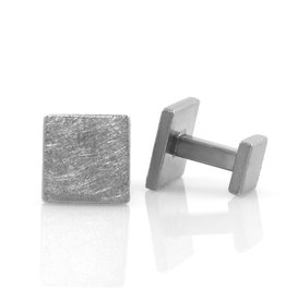 rustic block . cufflinks
