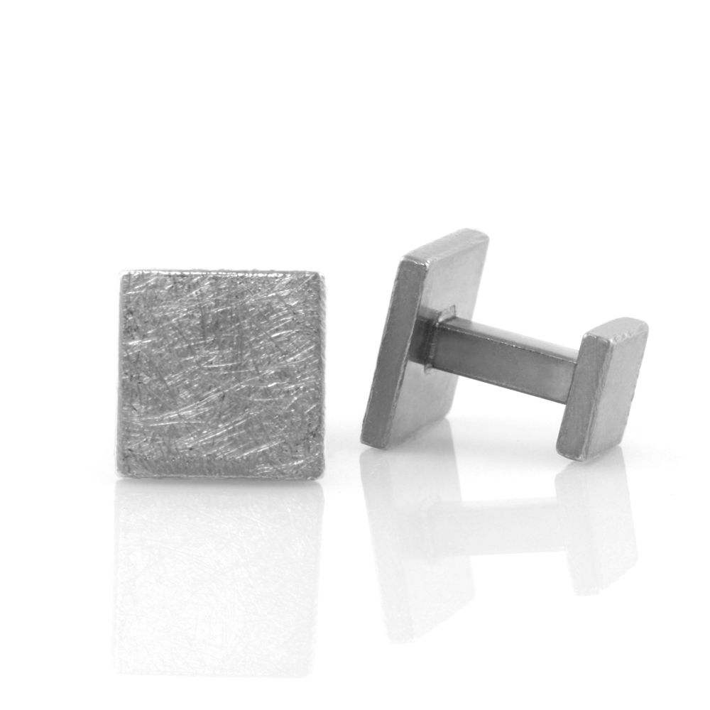 rustic block . cufflinks