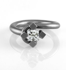 square prong setting . ring