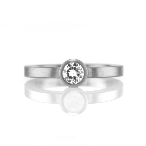 the solitaire bezel-set . ring
