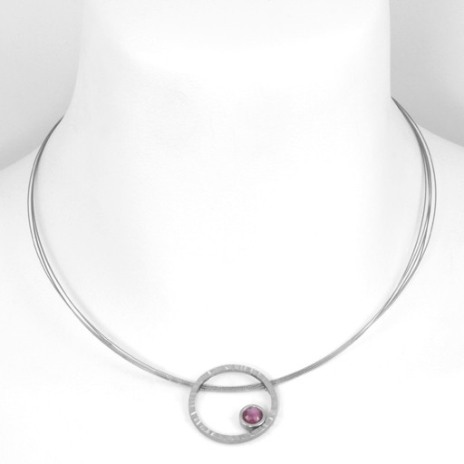 rose-cut ruby eclipse . necklace