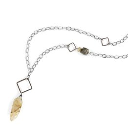 rutile tusk . necklace