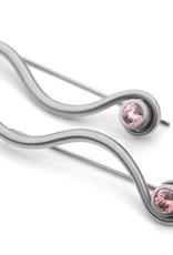 earthy zircon pendulum . earrings