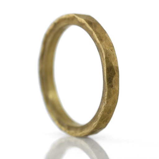 'faceted' 22k gold . ring