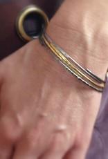 hammered stack bangle . bracelet