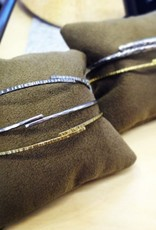 hammered bangle stack trio . bracelets