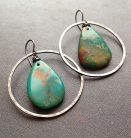 turquoise 'tierra' . earrings