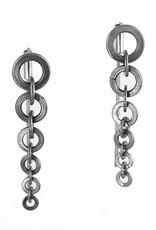 stainless steel tapers . earrings