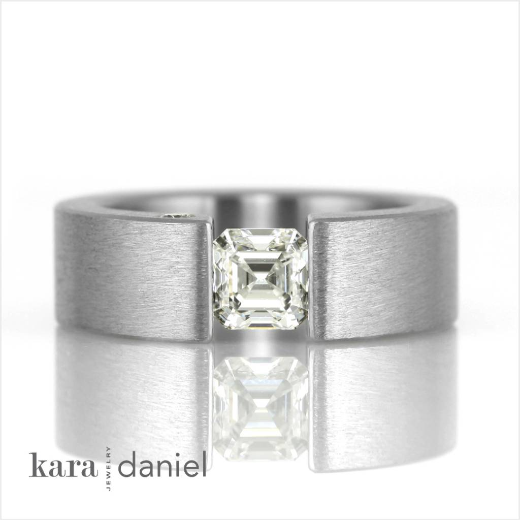 tension-setting: asscher-cut versus princess-cut - kara | daniel Jewelry