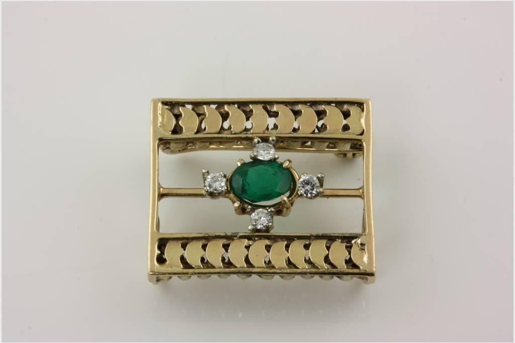 vintage emerald pendant