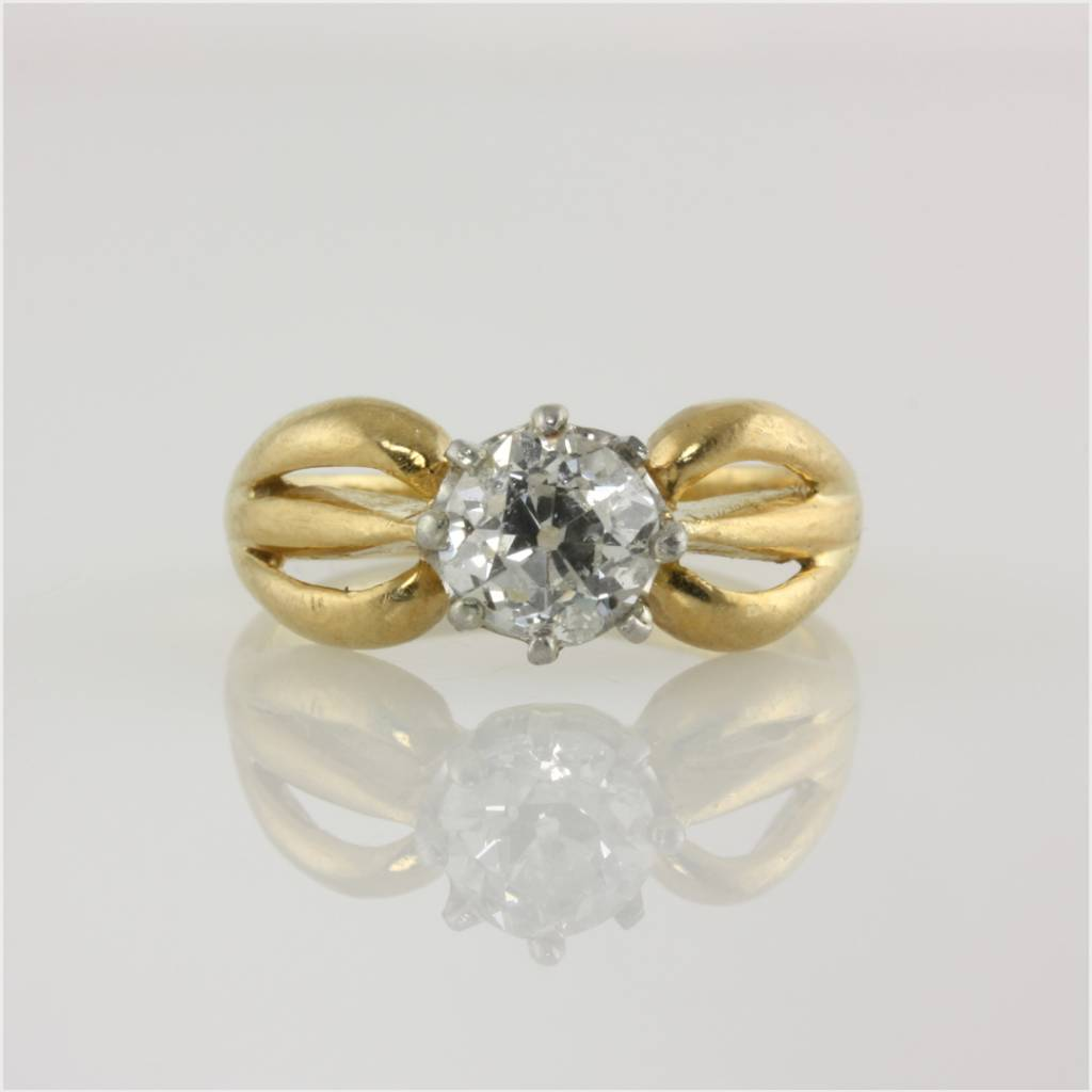 vintage diamond & recycled gold stack ring set