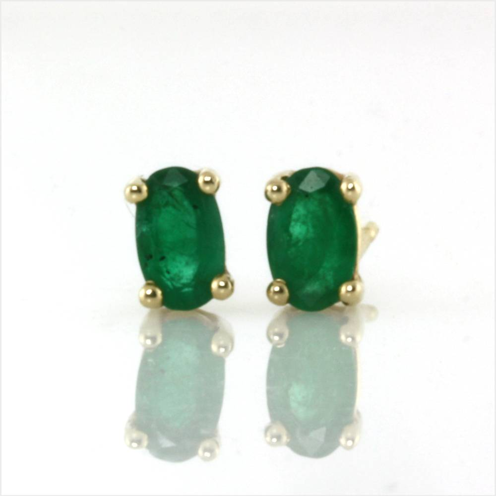upcycled emerald earrings