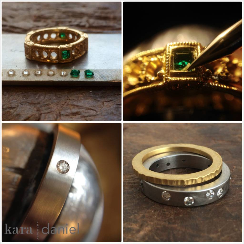 vintage diamond & emerald ring re-envisioned