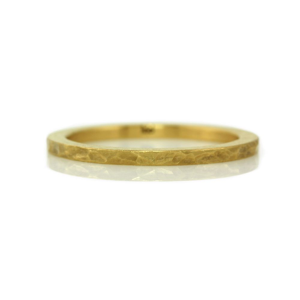 'faceted' 22k gold stack ring (2mm)
