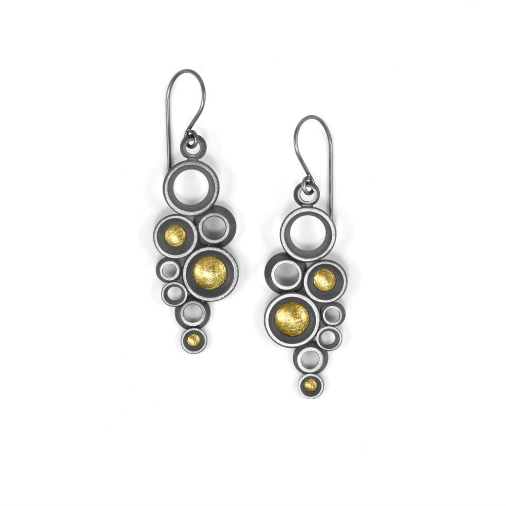 concave ~ convex FAIRMINED prime. earrings