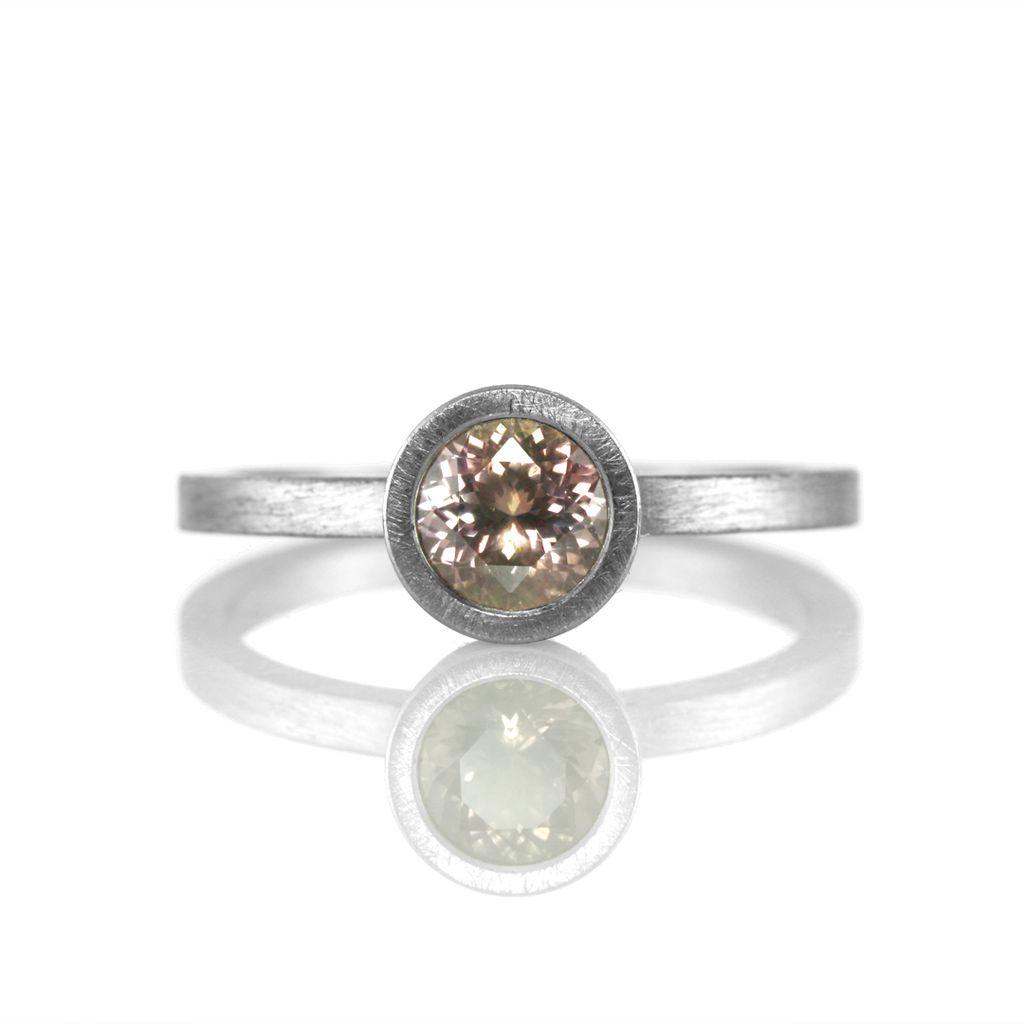 FAIRTRADE Montana pink sapphire solitaire bezel-set . ring