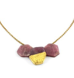ruby & gold 'hive' . necklace