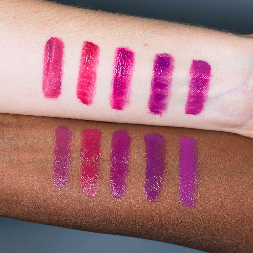 Pink Lip drape test swatches