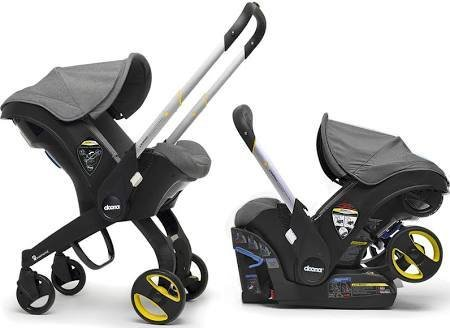 Happy Kidz Doona Infant Car Seat with Base - Grey/ Storm